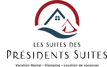 New logo and image of the Presidents' Suites, vacation rental and glamping in the Temiskaming region